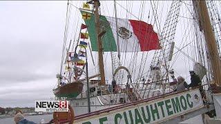 Mexican Navy visiting Connecticut celebrates Cinco de Mayo