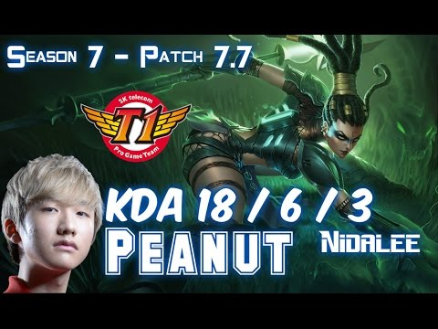 SKT T1 Peanut NIDALEE vs GRAVES Jungle