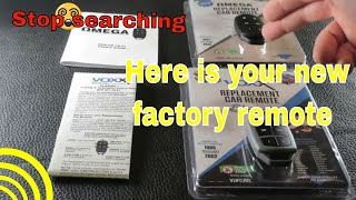 Stop searching for a factory remote replacement