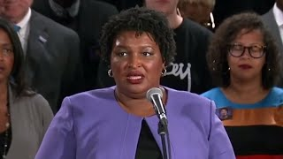 Stacey Abrams acknowledges she won