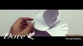 DIY-Paper Dove with Template/Paper Craft