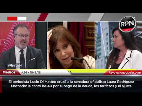 IMPERDIBLE: Lucio Di Matteo cruzó a una senadora oficialista y le cantó las 40 por la crisis