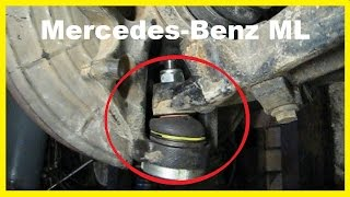 Передняя подвеска. Замена нижней шаровой опоры Mercedes Benz ML W163