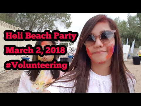 Volunteering in Holi Beach Party 2018 Dubai|Jebel Ali Golf Resort