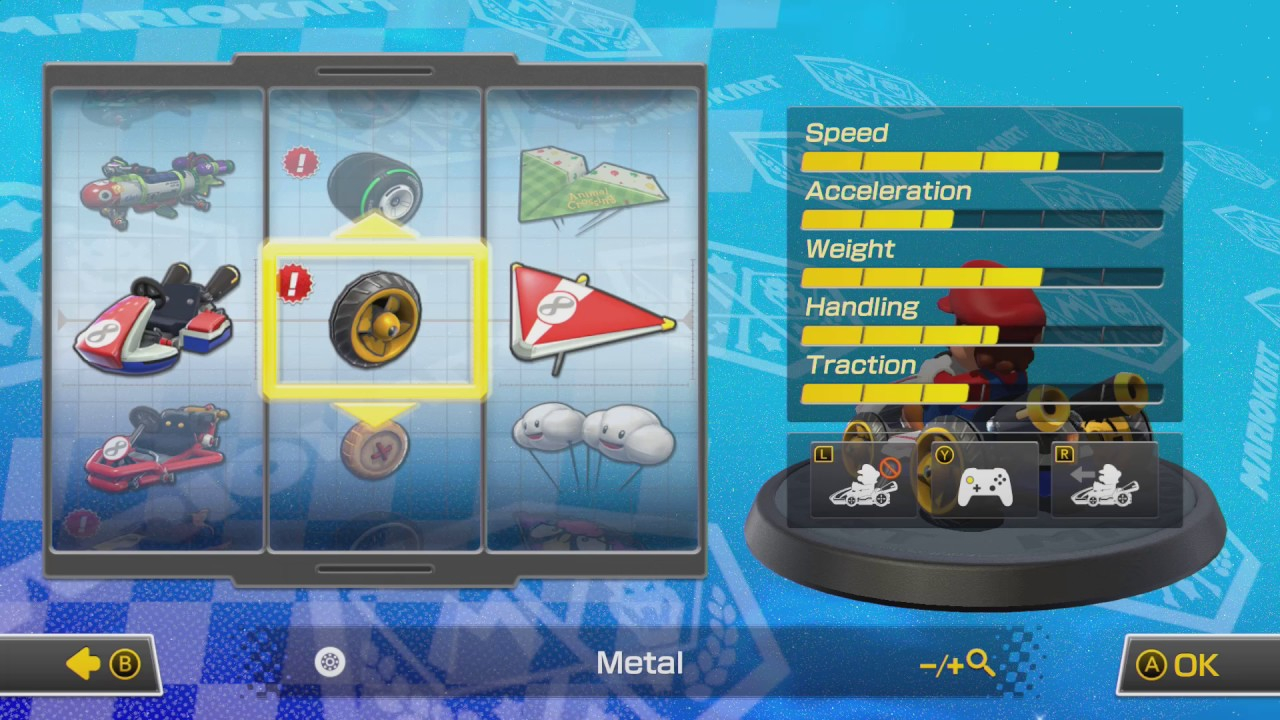 Mario Kart 8 Deluxe All Vehicle Parts Youtube