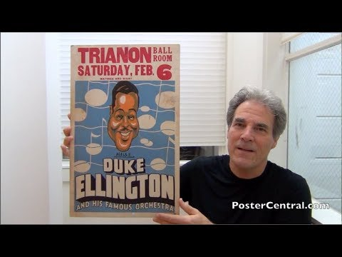 Duke Ellington 1930's Concert Poster Art-Deco Masterpiece