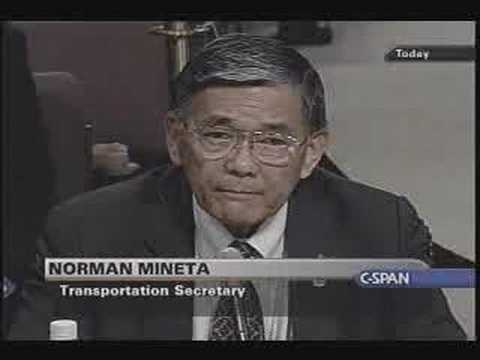 911 Commission - Trans. Sec Norman Mineta Testimony