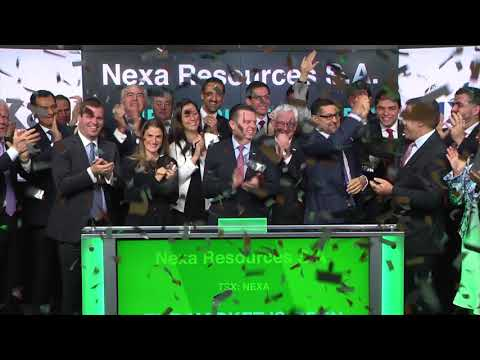 Nexa Resources S.A. Opens Toronto Stock Exchange, October 27, 2017