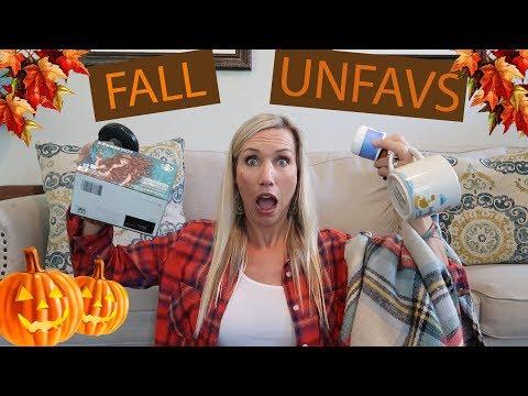FALL UN-FAVORITES!! 🍁 PLUS A GIVEAWAY!!