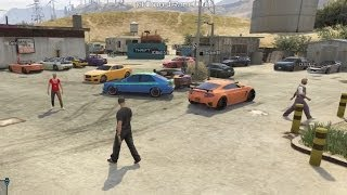 Grand Theft Auto V Online (Xbox 360) | Street Car Meet Pt.7 | Road Trip, Cruising, Drag Racing
