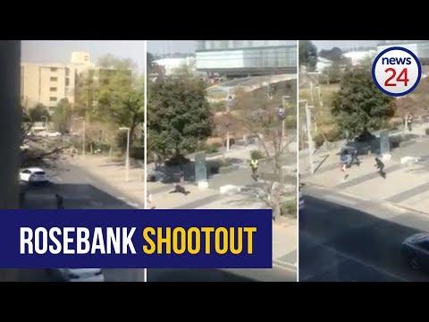 WATCH: Armed assailants flee scene of Rosebank, Johannesburg, shooting