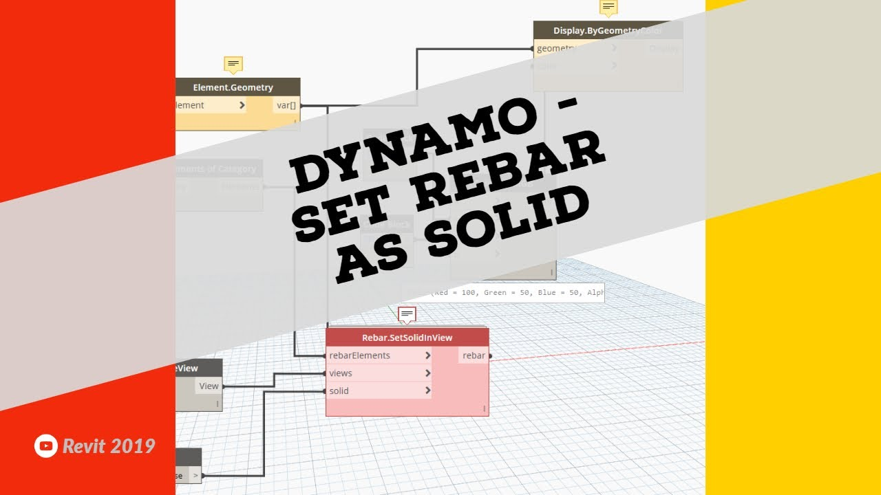 Revit 2018 and Dynamo - Set Rebar as Solid