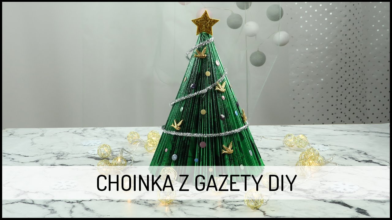 Choinka z gazety | DIY DOMODI TV