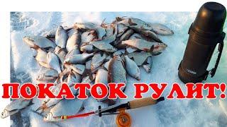 Куча Рыбы на Покаток Зимняя Рыбалка 2021 Vovabeer