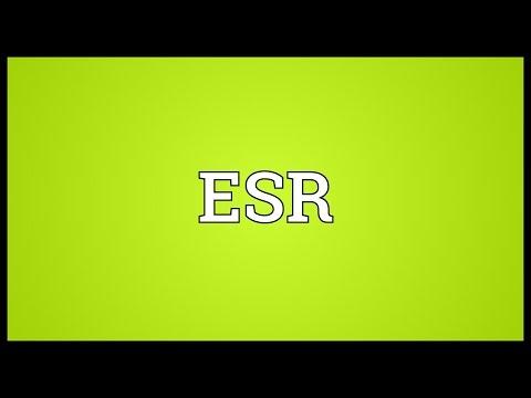 ESR Meaning