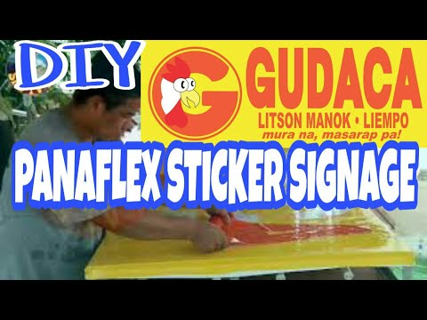 Gudacalitsonmanok Diy Panaflex Sticker Signage Fabrication Basic And Simple Manual Cutting Youtube