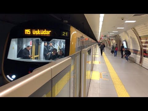 Modern Subway Line In Istanbul - Driverless Metro Ride