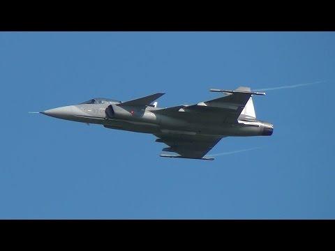 Saab JAS 39 Gripen - Takeoff & Display & Landing - Czech Air Force
