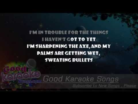 Sweating Bullets -  Megadeth (Lyrics Karaoke) [ goodkaraokesongs.com ]