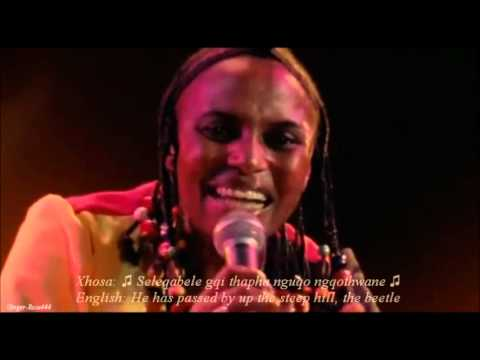 Miriam Makeba (LIVE) 'The Click Song/Qongqothwane' w/Xhosa & English lyrics