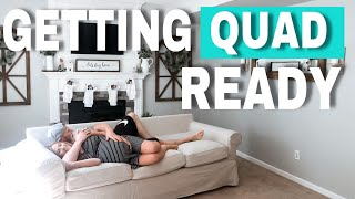 FAMILY FRIENDLY ROOM TRANSFORMATION WITH IKEA'S EKTORP 3.5 SERIES! | GETTING QUAD READY PART 1