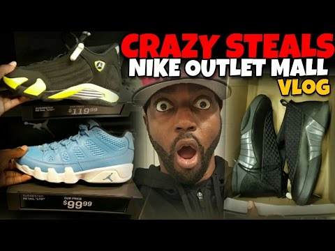 CHEAP JORDANS AT NIKE OUTLET MALL & DOPE PICKUPS!!!
