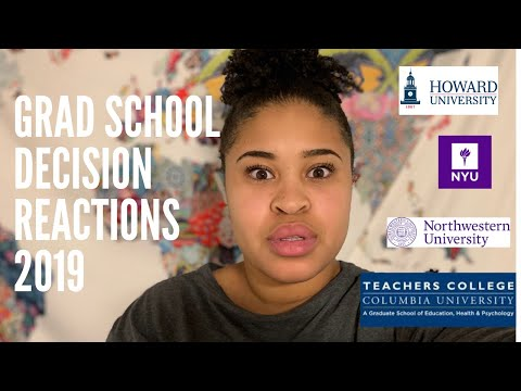 ADMISSION DECISIONS REACTION VIDEO 2019 (NYU, Northwestern, Howard, And Teachers College, Columbia)