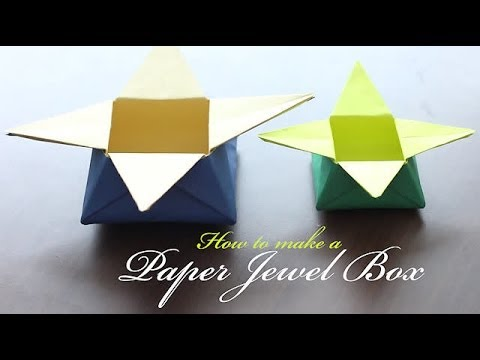 How To Make A Paper Jewel Box Youtube