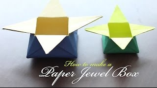 How To Make A Paper Jewel Box
