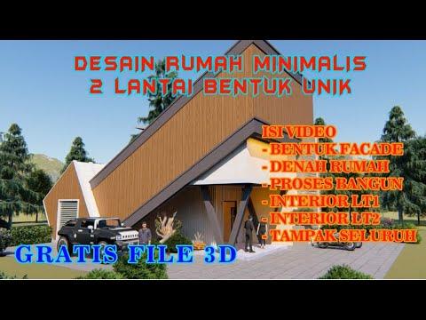 desain rumah minimalis 2 lantai - bentuk unik - youtube