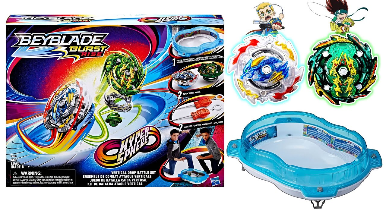 Vertical Drop Battle Set New Hasbro Beyblade Burst Rise Test Battles Unboxing And Review Youtube