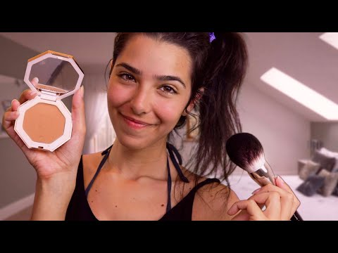 ASMR Doing Your Makeup (Personal Attention, Face Brushing, Face Touching, Tapping...)