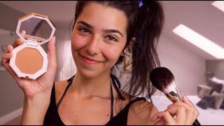 ASMR Doing Your Makeup (Personal Attention, Face brushing, Face touching,
