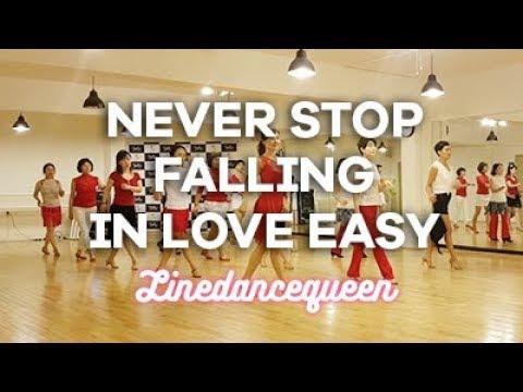 Never Stop falling In Love Rumba EZ Line Dance (Ultra Beginner Level) Demo