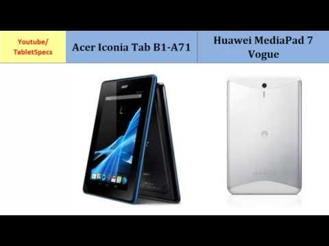 Acer Iconia Tab B1-A71 to Huawei MediaPad 7 Vogue, Which one to buy