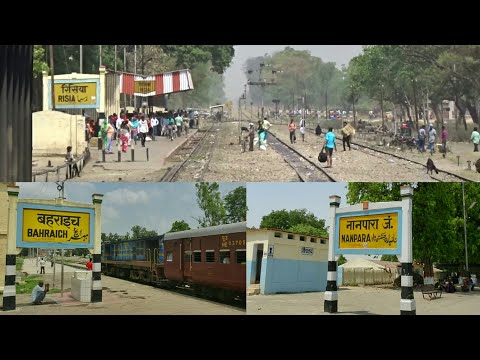 BAHRAICH to NANPARA Full Train journey inside YDM4 Locomotive!