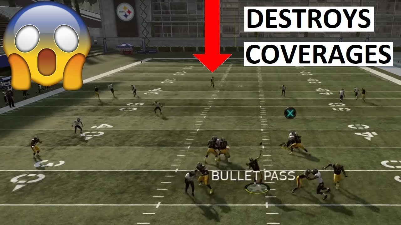 THE BEST OFFENSIVE PLAY IN MADDEN 19 - FAKE SCREEN WHEEL
