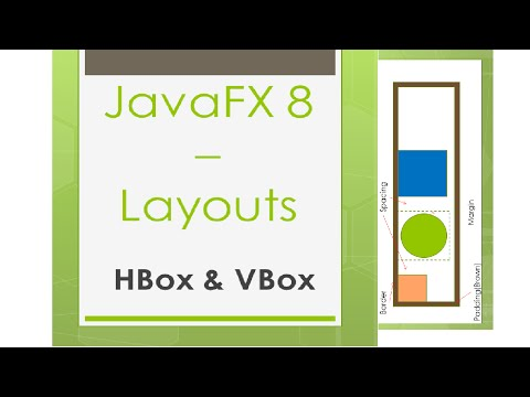 JavaFX 8 Tutorial - HBox & VBox (Layouts)  #9