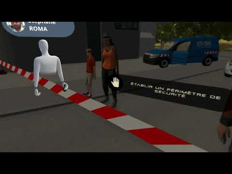 Virdys - Enedis - Réagir en cas d'accident de la route - Vidéo 360° interactive