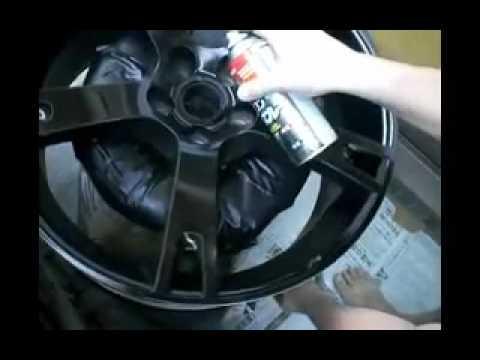 ar matte black spray painting rims 22inch wheels vw touareg youtube. Black Bedroom Furniture Sets. Home Design Ideas