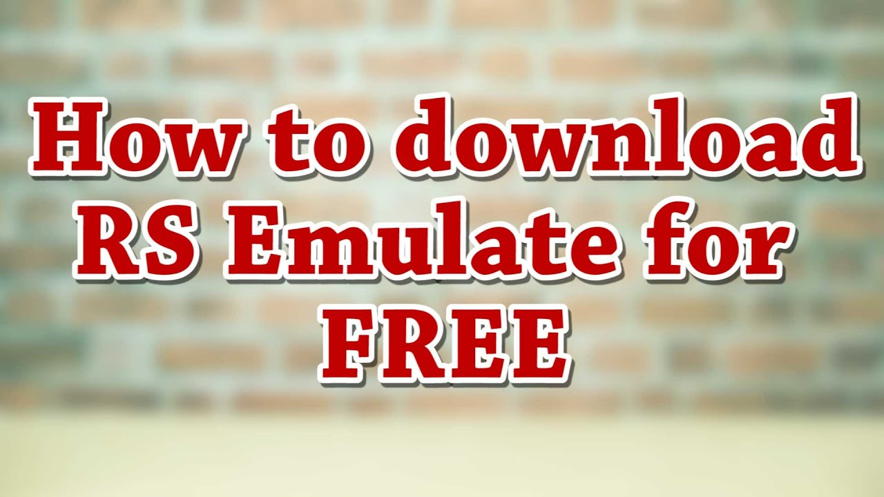 rs emulate 5000 v20 download