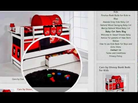 Cars By Disney Bunk Beds For Kids For Boys Or Girls Youtube