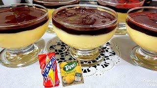 Sobremesa Deliciosa de Maracujá com Chocolate
