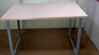 Стол компьютерный на металлических опорах(Купить через сайт http://www.tsuricom.com.ua/load/2-1-0-541 самый простой рабочий стол на металлических опорах., 2016-03-04T20:19:50.000Z)