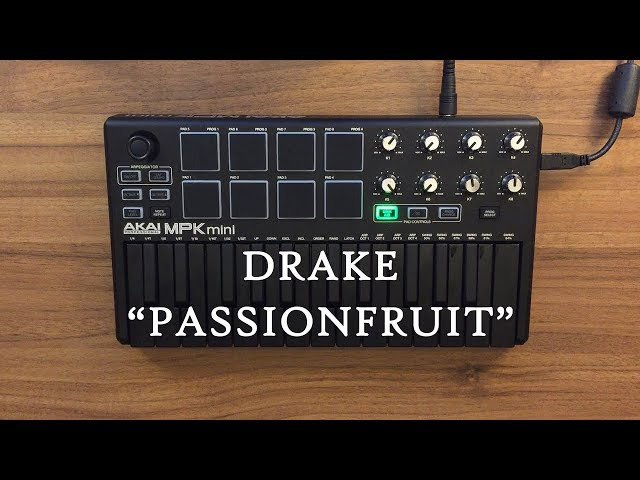 Passionfruit - Drake Instrumental cover (AKAI MPK mini MK2 Black) OVN