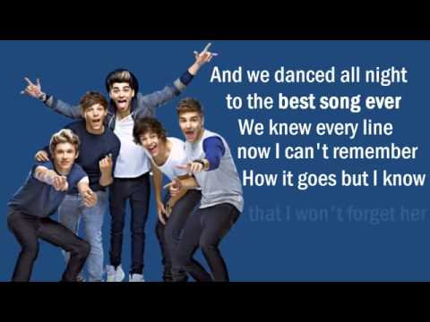 One Direction  Best Song Ever !  Lyrics On Screen + DownLoad Link