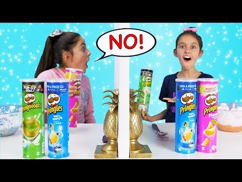 Twin Telepathy 3 Colors of Glue PRINGLES SLIME Challenge!!!!