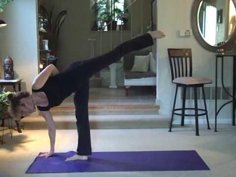 giselle's yoga exercises  ardha chandrasana half moon
