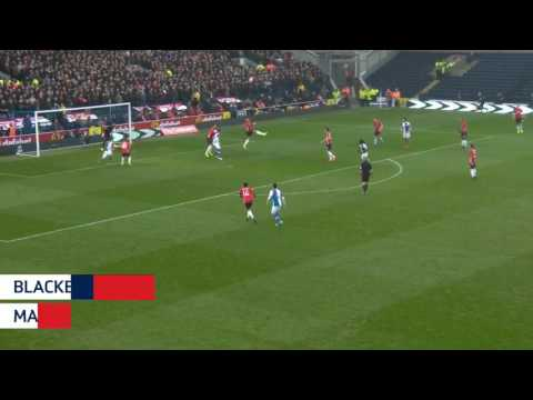 FA Cup - Blackburn rovers vs manchester united 1-2 Highlights 20/2/17