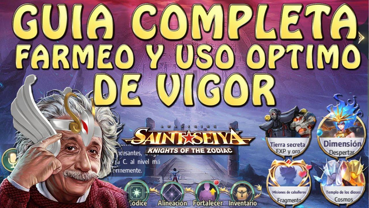 GUIA COMPLETA DE VIGOR!! FARMEO Y USO OPTIMO!! Saint Seiya Awakening